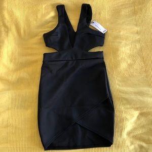 Boohoo Little Black Dress Petite - CutOut and Wrap